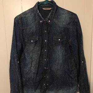 Highway Jeans Pearl Snap BUTTON up